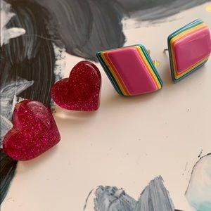 2 pair [VTG] earrings